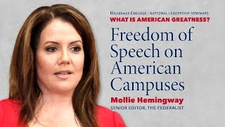"""Freedom of Speech on American Campuses"" - Mollie Hemingway"