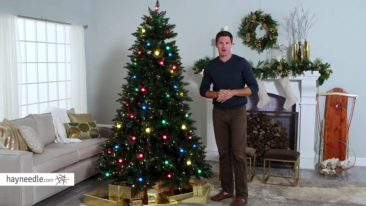 Reno Pine Pre Lit Full Christmas Tree Product Review Video
