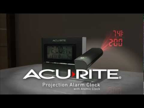 AcuRite Projection Alarm Clock with Atomic Time & Temperature 13239