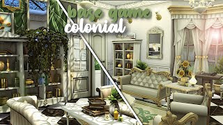 Base Game Colonial Mansion 🌳|| Part 2 || The Sims 4: Speed Build