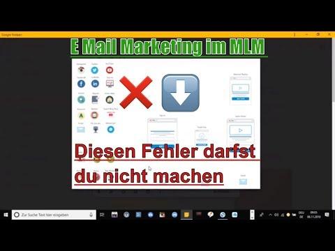 E Mail Marketing im MLM - Diesen Fehler darfst du nicht machen