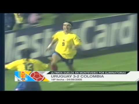 Historia Eliminatorias en Montevideo Uruguay Vs  Colombia