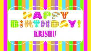 Krishu Birthday Wishes KRISHU