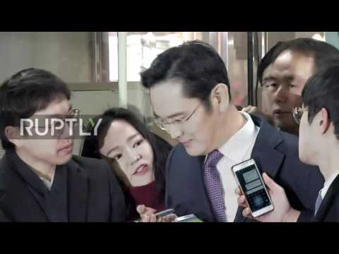 South Korea: Samsung heir Lee Jae-yong arrives at court to face corruption charges
