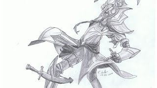 league of legends Master Yi Speed Drawing