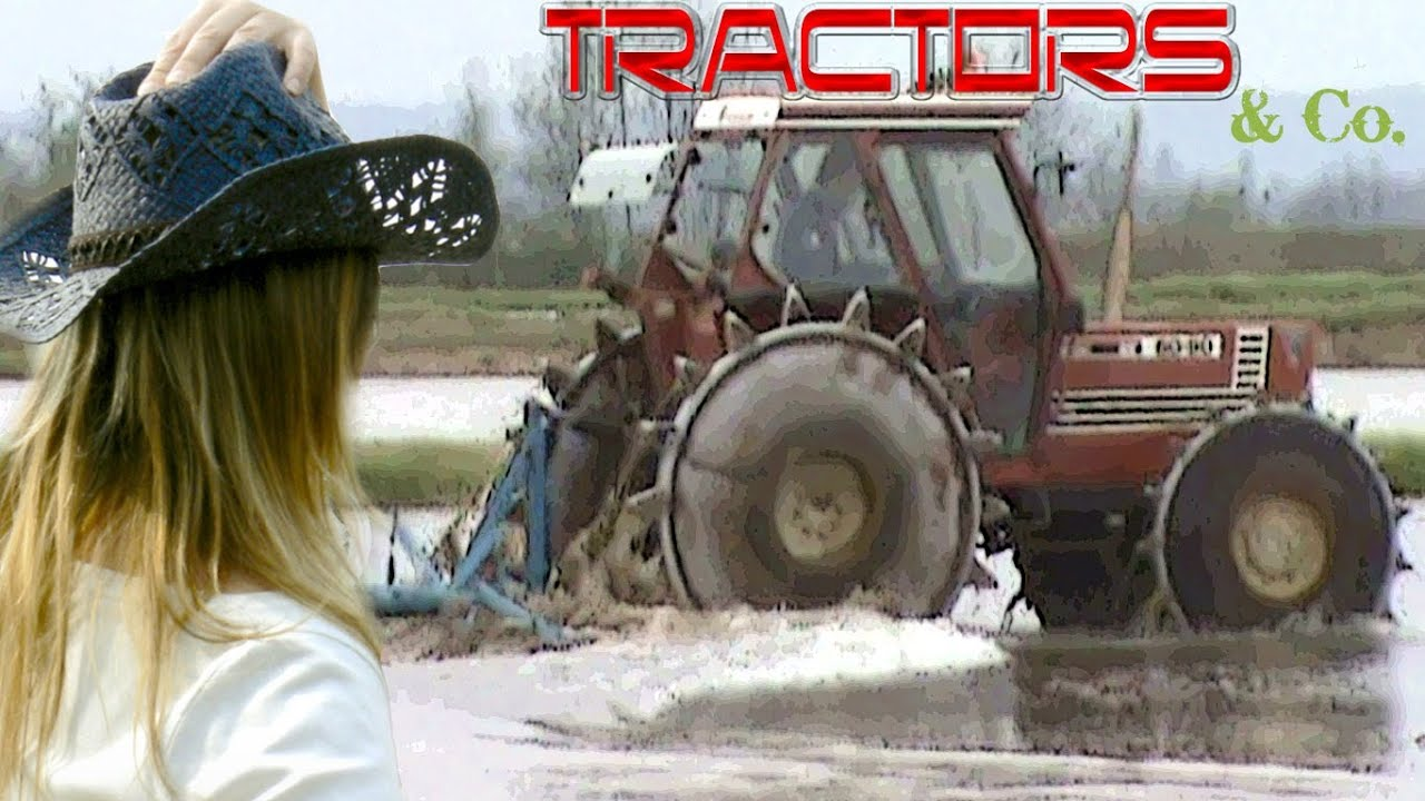 Iron Tractor Wheels : Rare to see fiat with iron wheels for rice paddy