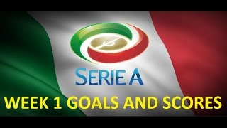 Italian serie a | week 1 goals and scores