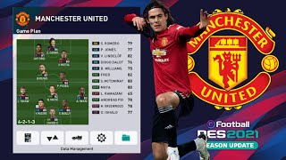 Formasi Manchester United EFootball PES2021