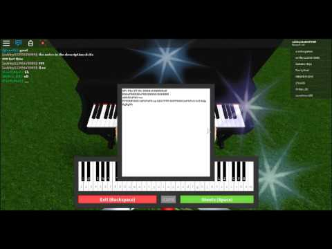 One last time roblox piano - YouTube