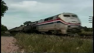 *RARE* FAST Amtrak trains w/ F40PH