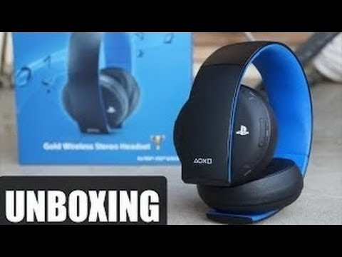 unboxing playstation gold wireless stereo headset pl hd. Black Bedroom Furniture Sets. Home Design Ideas