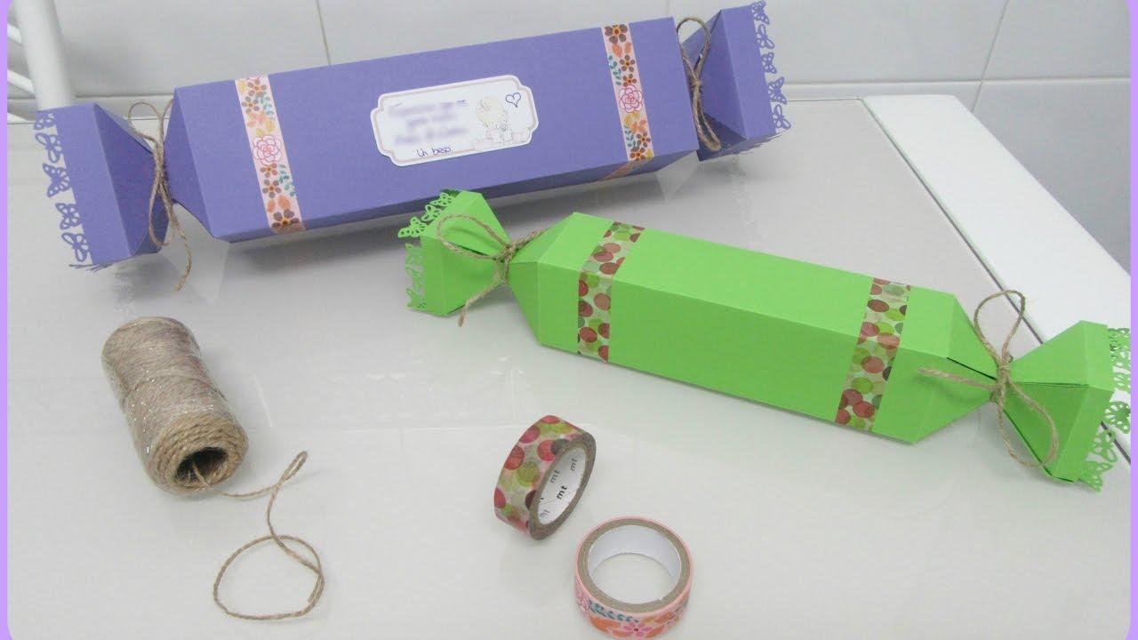 Envolver regalos de forma original caja caramelo - Envolver regalos de forma original ...