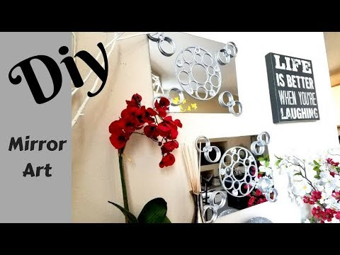 Easy Diy Mirror Wall Decor Using Most Items From The Dollar Store!
