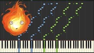 Howl's Moving Castle Theme 2.0 - 하울의 움직이는 성 피아노 - [Piano Tutorial] (Synthesia) // Kyle Landry + MIDI