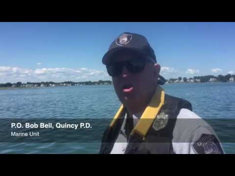 Quincy Police Marine Unit Officer Bob Bell patrols Quincy waters and discusses clamming restrictions