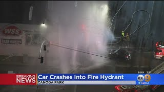 2-Vehicle Accident Touches Off Chaos In The Valley -- Geyser, Water Rescue, Roof Collapse