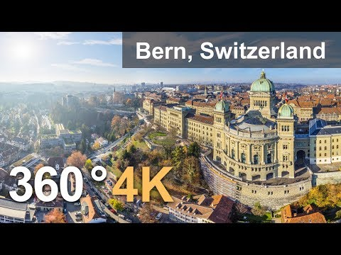 360°, Bern, Switzerland. 4К aerial video