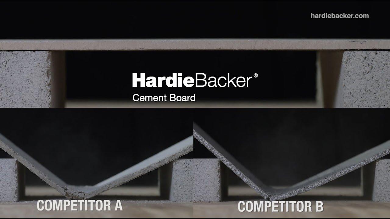 HardieBacker® Cement Board – Made Better - YouTube