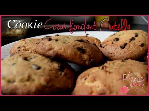 ◤recette-n°1◥---cookie-coeur-fondant-au-nutella-❀