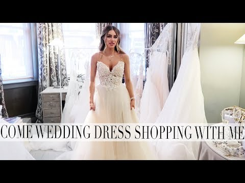 COME WEDDING DRESS SHOPPING WITH ME & BRIDAL SKINCARE | Lydia Elise Millen