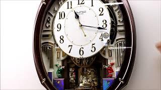 Rhythm スモールワールド アルディ 4MN545RH23 からくり時計 Melodies In Motion Wall Clock Traumerei The Entertainer アルディ 検索動画 34