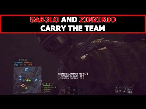SAB3LO and ZINZIRIO Carry the team - Battlefield 4 |