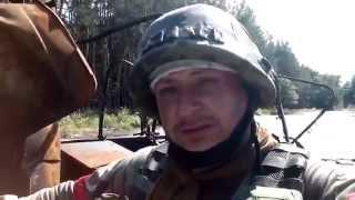 Украина.Зачистка военными блокпостов и зданий.Трасса из Славянска на Красный Лиман