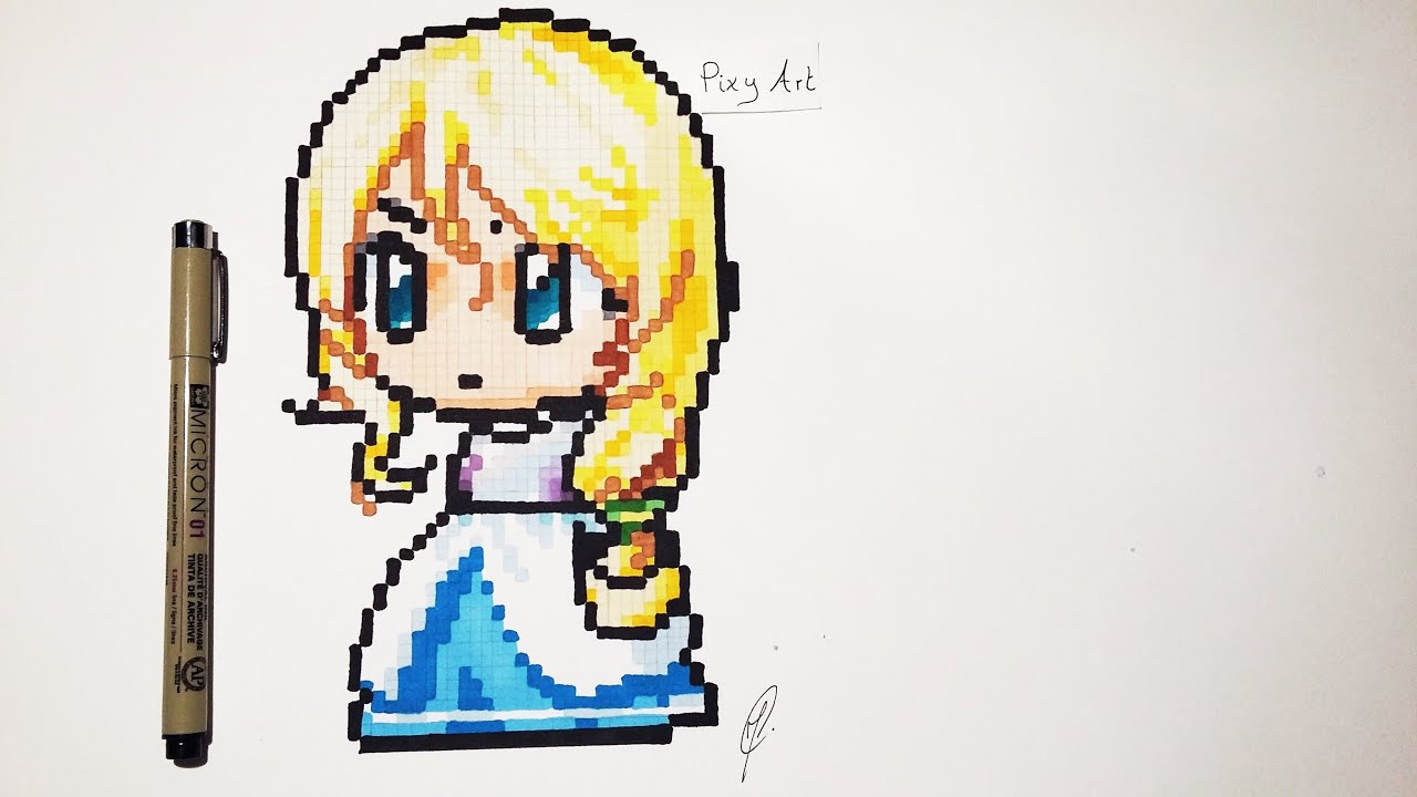 How To Draw Cute Manga Character Pixel Art