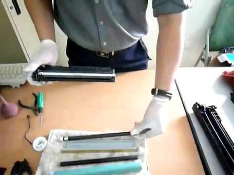 HP 12A طريقة حقن الطابعات الليزرية