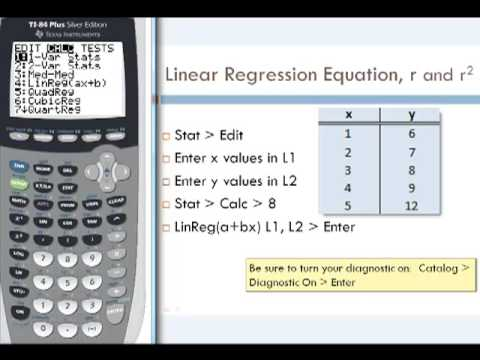 Linear regression(part 2 of 4) ti graphing calculator tutorial.