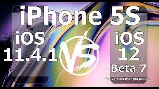 Speed Test : iPhone 5S : iOS 12 Beta 7