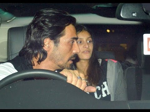 Spotted: Arjun Rampal with daughters Mahika and Myra at the airport