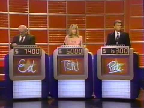 Ed Asner, Teri Garr and Pat Sajak on Celebrity Jeopardy (Part 3/4) - 1993