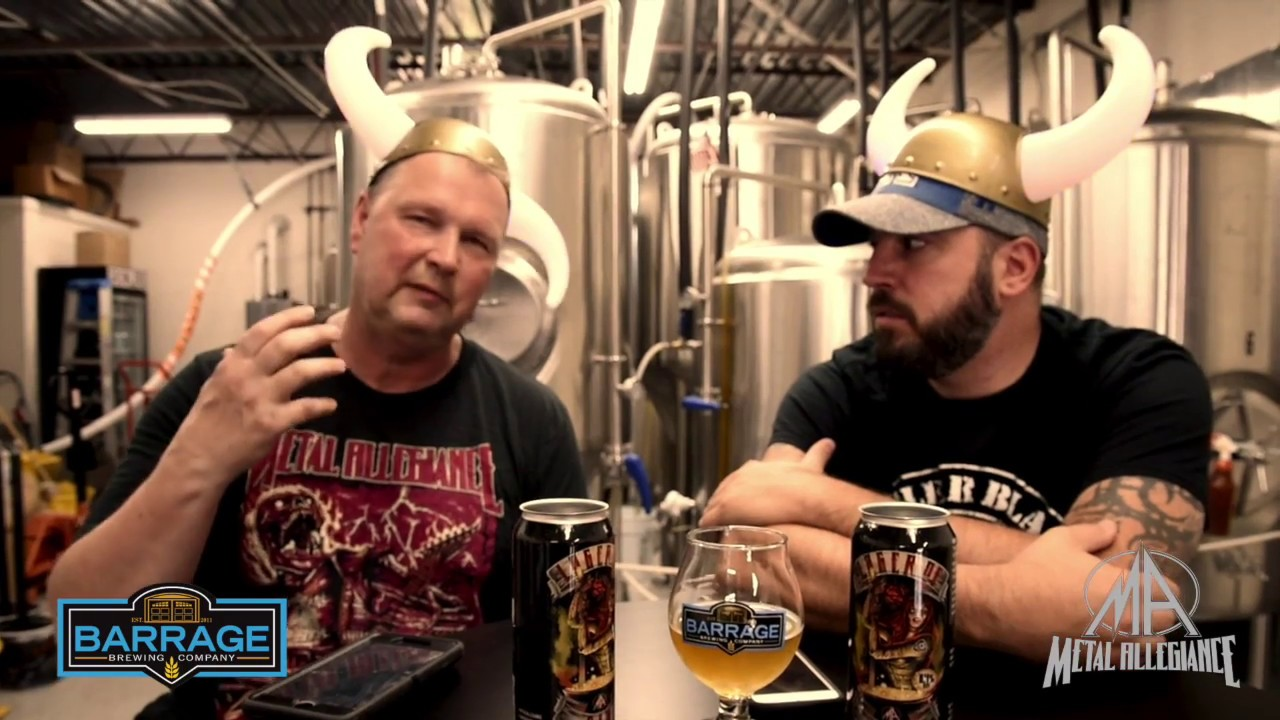 METAL ALLEGIANCE - Lager of Sin Beer by Metal Allegiance and Barrage Brewing Company