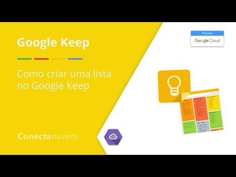 Como criar uma lista no Google Keep - Google Keep