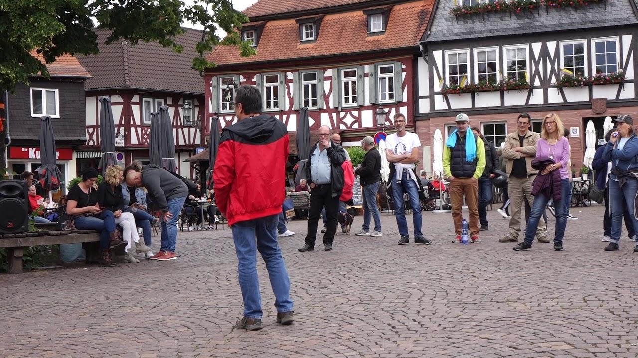 Mahnwache gegen Existenzvernichtung Klaus der Kneipier 07.06.2020 Bürgerbewegung Seligenstadt