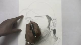 Portrait Of Dhoni By AnbuChezhian
