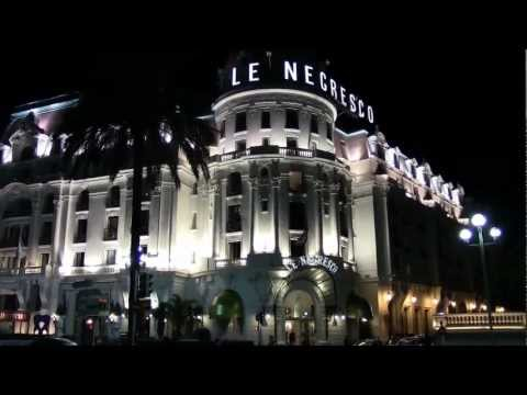 Nice , hotel Negresco in night