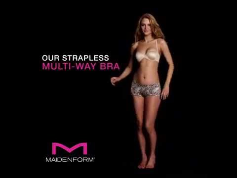 c2505c1e58 Maidenform How to Wear  Strapless Multi-Way Bra - YouTube