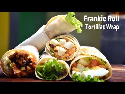 Frankie Roll - Tortilla Recipe Wraps - Egg - Paneer - Chicken - Potato