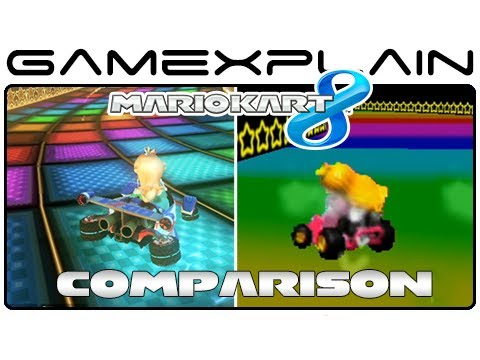 Mario Kart 8: Rainbow Road 64 Head-to-Head Comparison (Wii U vs. N64)