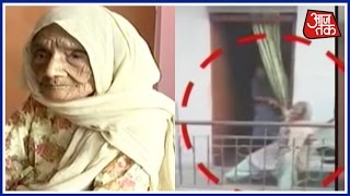 Old Woman Mercilessly Beaten Up By Her Daughter In Delhi