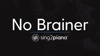 No Brainer (Piano Karaoke Instrumental) DJ Khaled, Justin Bieber, Chance the Rapper & Quavo