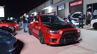 Normal weekend out in Texas.. Evo X vs the WORLD and several high hp cars hit the STREETS!