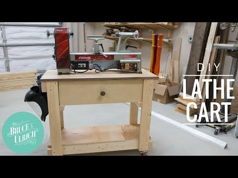 DIY Lathe Cart from 2x4's // Woodworking How-to
