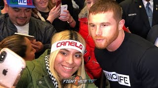CANELO SAYS HES READY FOR 168LBS DEBUT AS FANS IN NEW YORK SHOW HIM MAD LOVE