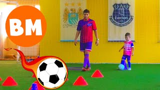ВМ: На футбольной тренировке Футибол | Boy on Footyball football training