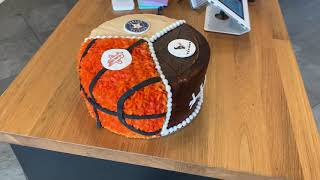 Trifecta Astros Rockets Texans birthday cake