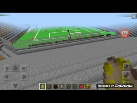 Minecraft tham map.tham san bong #1