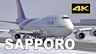 [4K] 79 jets from morning to sunset - Winter Plane Spotting at Sapporo New Chotose Airport / 新千歳空港